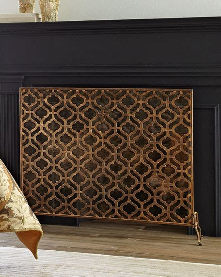 single panel fireplace screen gold lexington single panel fireplace screen