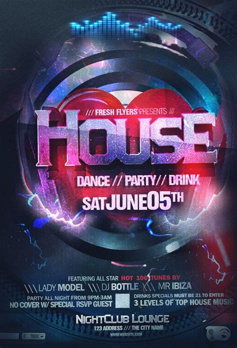 house music flyers flyer psd we love house music 187 nitrogfx download unique graphics for creative