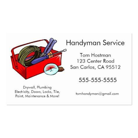Handyman Business Card Template handyman business cards