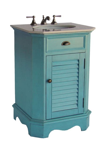 Coastal Bathroom Vanity 24 Inch Bathroom Vanity Cottage Coastal Style Blue Color 24 Quot Wx21 Quot Dx35 Quot H Ccf47523bu
