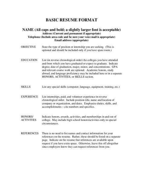 basic resume format exles resume templates 85 free templates in pdf word excel