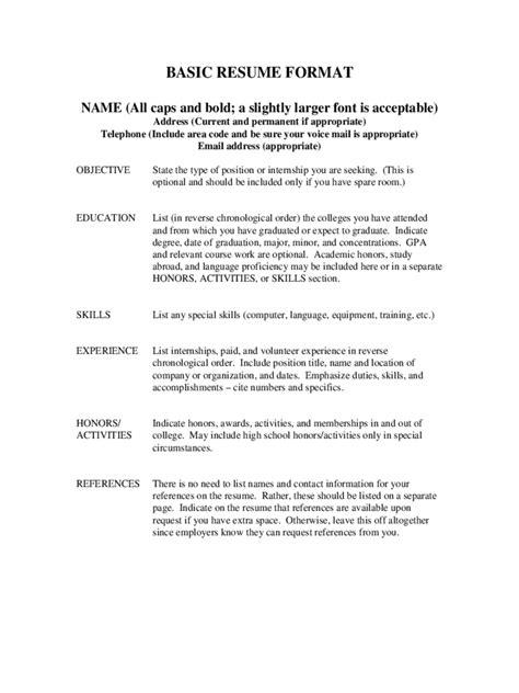 simple resume format edit basic resume format edit fill sign handypdf