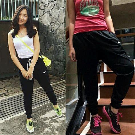 Celana Panjang Wanita Hk Premium No 27 28 29 30 Berkualitas 2 jual beli celana nike joger cewe wanita