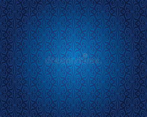 retro blue wallpaper uk indigo blue vintage wallpaper background pattern design