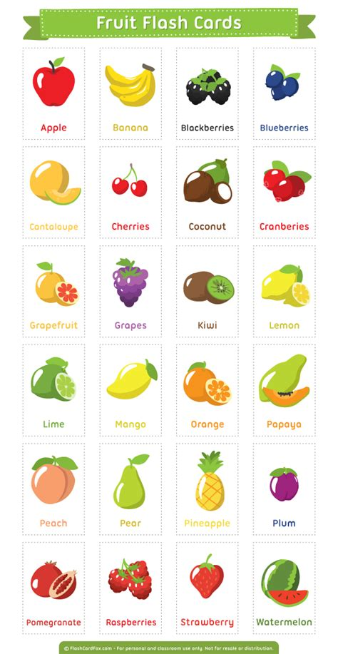 printable food flashcards for toddlers free printable fruit flash cards download them in pdf