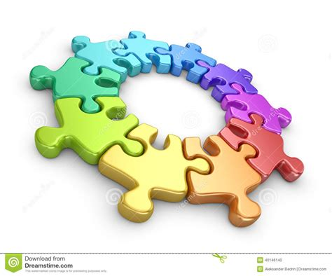 concept work puzzle 3d team work concept stock photography