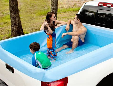 pool beds pickup pools a truck bed swimming pool 187 gadget flow