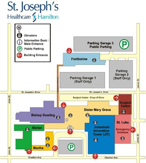 st joseph s hospital map and directions