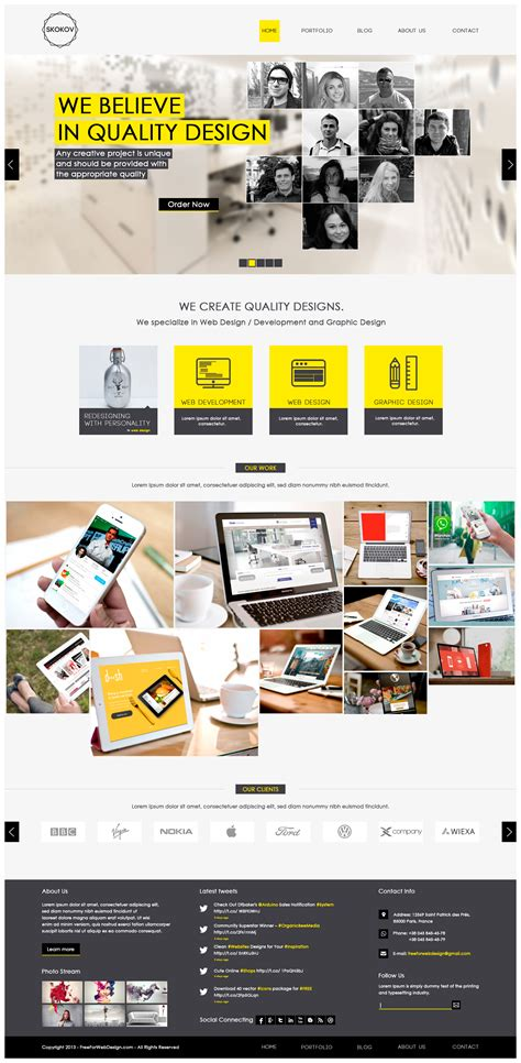 layout design psd web and graphic design portfolio website template psd