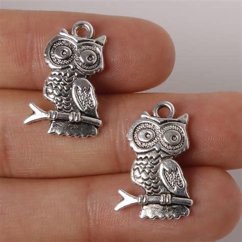 Owl Charms Zinc Alloy Antique Silver aliexpress buy 9pcs 14x24mm zinc alloy antique