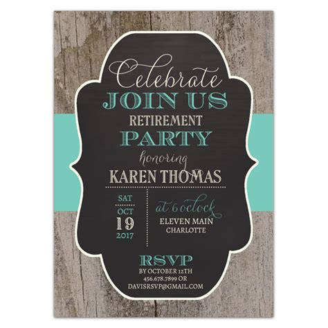 re tired retirement party 5 7 paper invitation card invitations 4 u