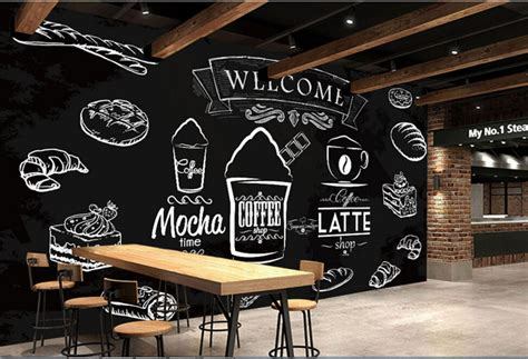 coffee shop wallpaper murals aliexpress com buy custom food shop wallpaper coffee