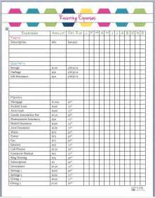 25 best ideas about monthly expense sheet on pinterest