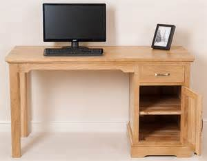 Real Wood Computer Desk Aspen Solid Oak Wood Small Computer Desk Office Studio Unit Furniture Ebay