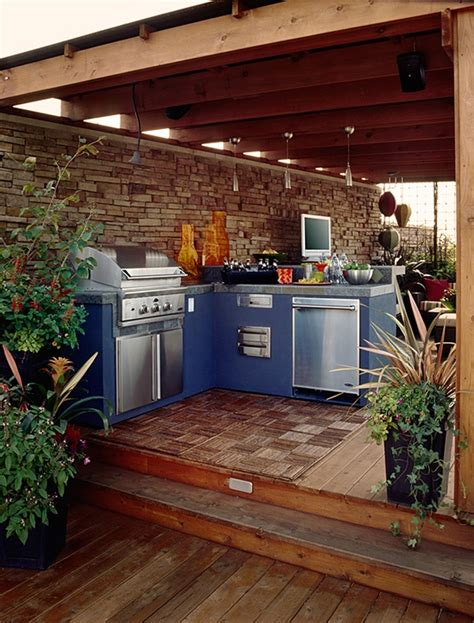 Patio Kitchen Designs by 95 Cool Outdoor Kitchen Designs Digsdigs