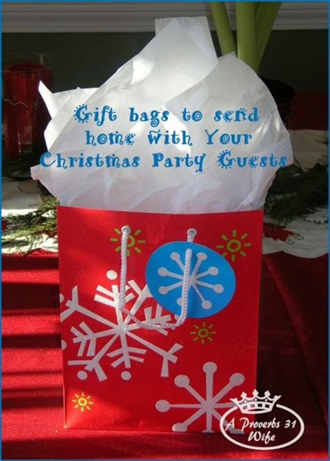 christmas gifts for guests gift bags to send home with your guests