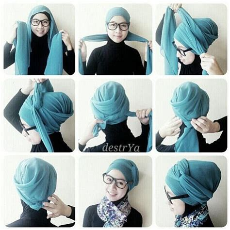 tutorial hijab pashmina simple by hara turban hijab tutorial pinterest turban turban