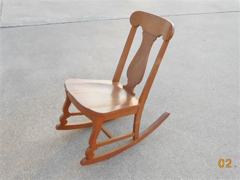Vintage rocking chair sewing nursing armless mid century