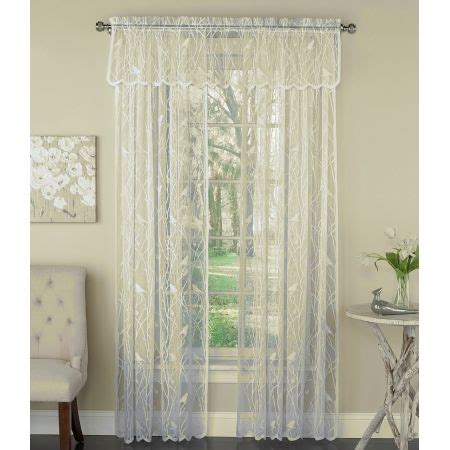 ivory curtain panels lorraine home songbird ivory lace curtain panel panels