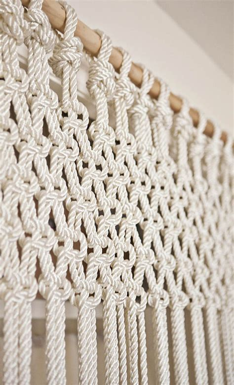 macrame for diy macrame curtain or could do slightly differently as