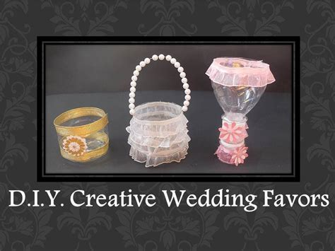 How To Make Wedding Giveaways - d i y easy creative wedding favors ideas youtube