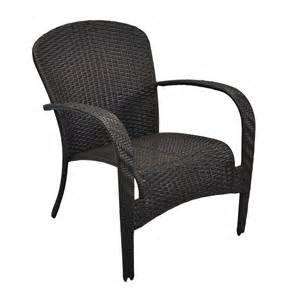 Stackable Patio Chairs Shop Garden Treasures Trevose Brown Wicker Stackable Patio Conversation Chair At Lowes