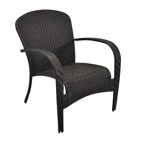 stackable wicker patio chairs shop garden treasures trevose brown wicker stackable patio