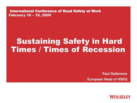 How International Audio Conferencing Works by Ppt International Conference Of Road Safety At Work
