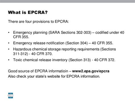 sara title iii section 312 michael reece ghd understanding epcra reporting tier i