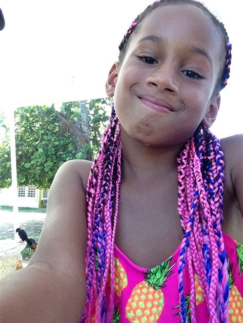 box braids for little girls pink and blue mixed box braids perfect for little girls