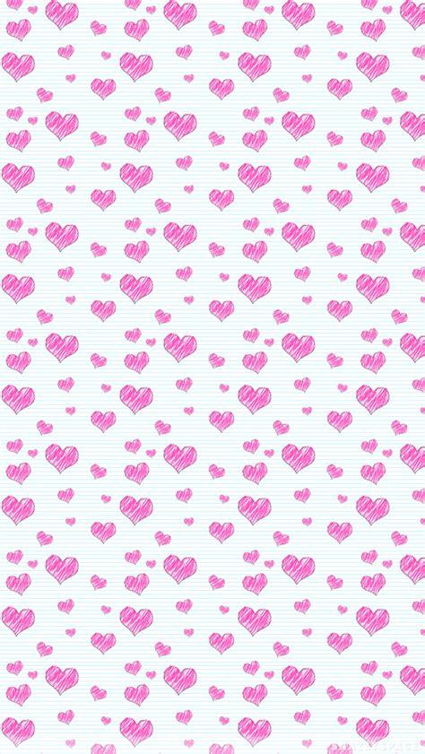wallpaper doodle pink pink doodle hearts iphone wallpaper
