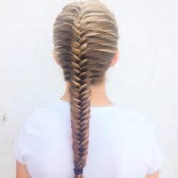 fish style bolla hairstyle with braids neat french fishtail