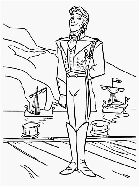frozen coloring pages hans coloring pages images