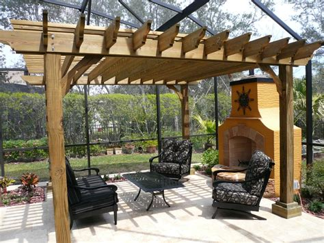 Pressure Treated Big Kahuna Pergola Kit Outside And Pressure Treated Pergola