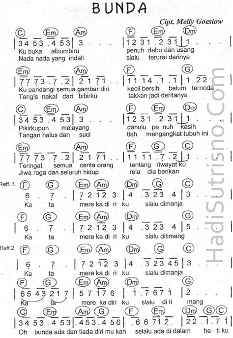 lagu pop partitur lagu pop kumpulan partitur not angka not balok all sizes partitur bunda mellygoeslow sheet music