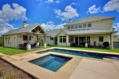 french country backyard boasts sleek lap pool hgtv