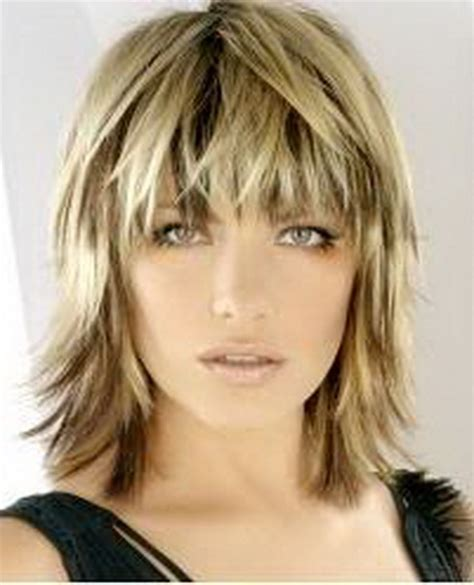 womens medium length layered razor cut hairstyle razor medium haircuts