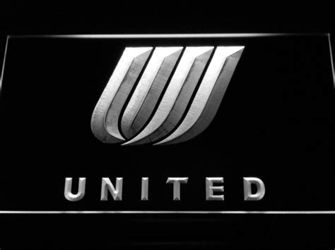 united airline sign in united airlines tulip logo led neon sign safespecial