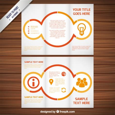 brochures template with circles vector free download