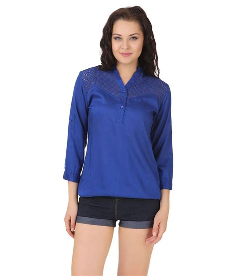 Lili Top Blouse buy lili blank blue cotton tops at best prices in india snapdeal