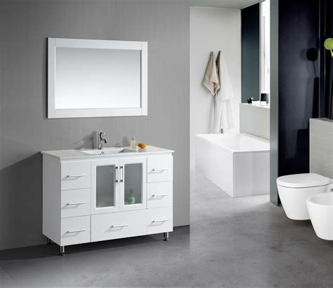 design element stanton white bathroom vanity set