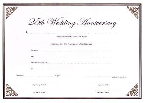 Ccn Certificate Sles Wedding Anniversary Certificate Template