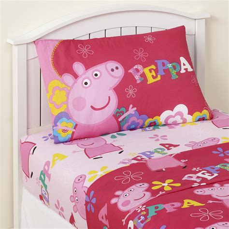 peppa pig bedding peppa pig 3 piece sheet set