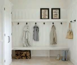 simple mudroom bench hooks and shelf with bead board i