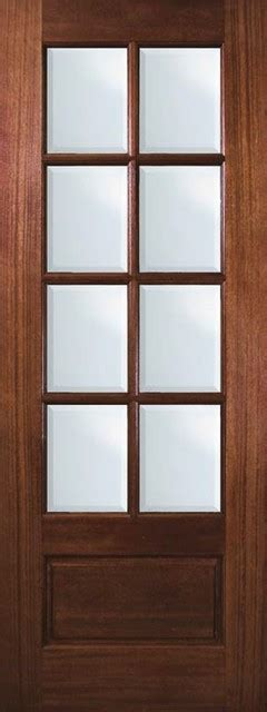 Single Glass Patio Door Slab House Patio Single Door 96 Mahogany 1 Panel 8 Lite Tdl Glass Traditional Patio Doors