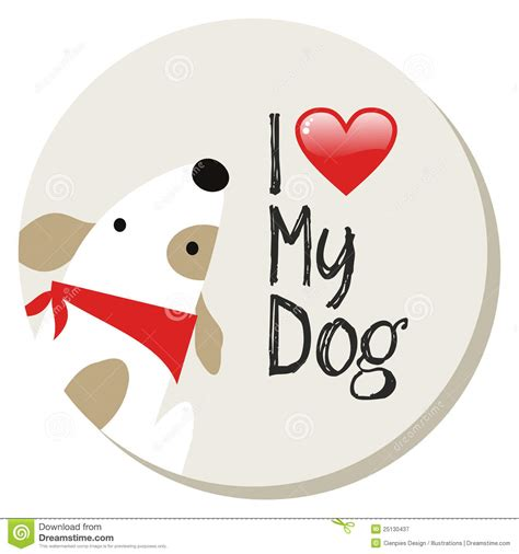 i my puppy i my label royalty free stock photography image 25130437