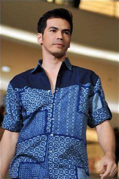 batik semar kemeja batik ivory navy biru pengiriman gratis zalora co id for