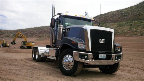 truck on driving the cat ct680 vocational truck truck