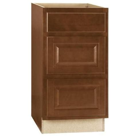 home depot cognac cabinets hton bay 18x34 5x23 in hton base cabinet