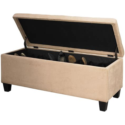 Shoe Ottoman Linon Shoe Storage Ottoman 609770 Living Room At Sportsman S Guide